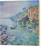 Riomaggiore Cinque Terre Italy Wood Print