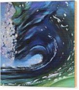 Rip Curl - Dynamic Ocean Wave  Wood Print by Prashant Shah