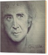 R.i.p. Gene Wilder Wood Print