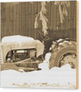 Rip Old Oliver Tractor Wood Print