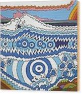 Rip Tide Wood Print by Rojax Art