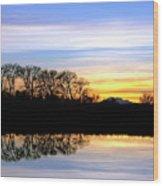 Riparian Sunset No.1 Wood Print