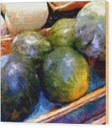 Ripe And Luscious Melons Wood Print