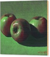 Ripe Apples Wood Print by Frank Wilson