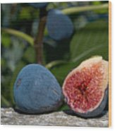Ripe Figs Wood Print