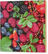 Ripe Of  Fresh Berries Wood Print