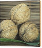 Ripe Walnuts Wood Print