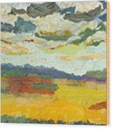 Ripening Prairies Wood Print