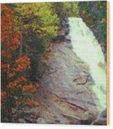 Ripley Falls Autumn Wood Print