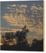 Ripple Clouds At Sunset Wood Print