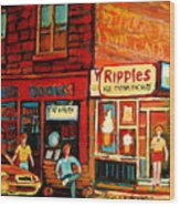 Ripples Ice Cream Factory Wood Print