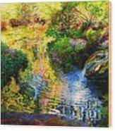 Ripples On A Quiet Pond Wood Print