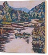 Ripples On The Little River Wood Print
