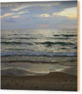 Ripples On The Shore Wood Print by Trina Prenzi