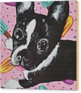 Popsicle Pup Wood Print