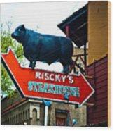 Riscky's Wood Print
