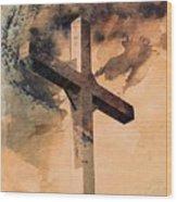 Risen  Wood Print by Aaron Berg