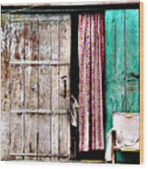 Rishikesh Door Wood Print