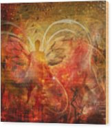 Rising From The Ashes Wood Print