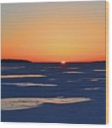 Rising On The Horizon  Wood Print