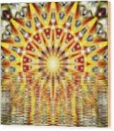 Rising Sun Mandala Wood Print