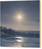 Rising Sun On A Cold Winter Morning Wood Print
