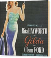 Rita Hayworth As Gilda Wood Print