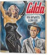 Rita Hayworth Gilda 1946 Wood Print