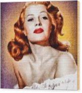 Rita Hayworth, Vintage Actress Wood Print