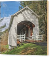 Ritner Creek Covered Bridge 0739 Wood Print