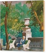 Rittenhouse Square Wood Print