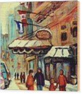 Ritz Carlton Montreal Cityscenes  Wood Print