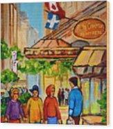 Ritz Carlton Montreal Sherbrooke Street Wood Print