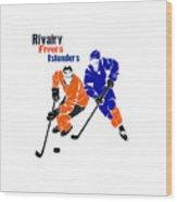 Rivalry Flyers Islanders Shirt Wood Print