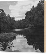 River And Clouds 2 Wood Print