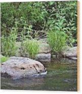 River At Duchesne Falls Wood Print