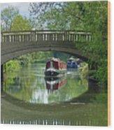 River At Harlow Mill Wood Print