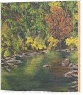 River At Hidden Acres 1. Wood Print
