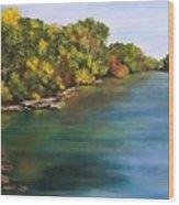 River At Hidden Acres 2. Wood Print