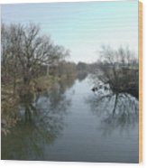 River At Marston On Dove Wood Print