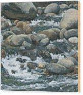 River At Sierra Subs Wood Print