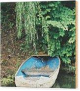 River Avon Boat Wood Print