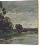 River Bank Wood Print