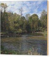 River Bends Wood Print