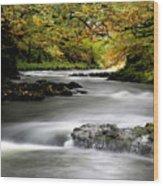 River Brathay Cumbria England Wood Print