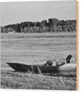 River Canoe Wood Print