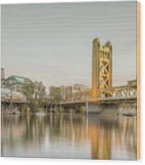 River City Waterfront Wood Print