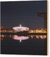 River Clyde Night Wood Print