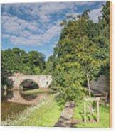 River Coquet Flows Under Warkworth Bridge Wood Print