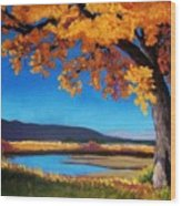 River Cottonwood Wood Print